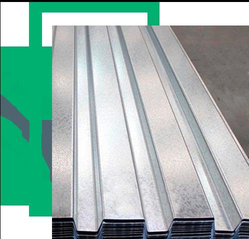 lámina de acero galvanizado con perfil RD 91.5