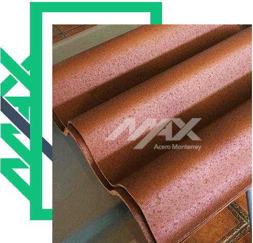 Lámina teja con seis canales; lámina plástica para techos.