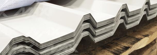 Lámina acanalada R72 con revestimiento pintro; acero calidad Ternium.