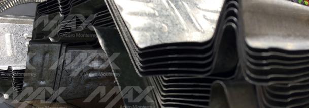 Lámina losacero con galvanizado de zinc distribuida por Max Acero.