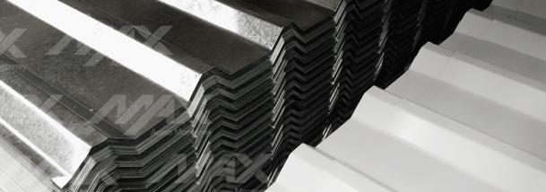 Venta de láminas R-101; disponibilidad de acero acanalado en variedad de acabados.